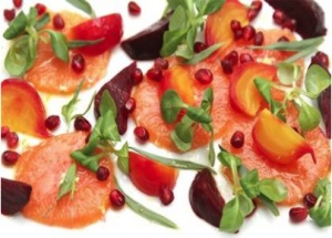 Pomegranate, Beet, and Blood Orange Salad